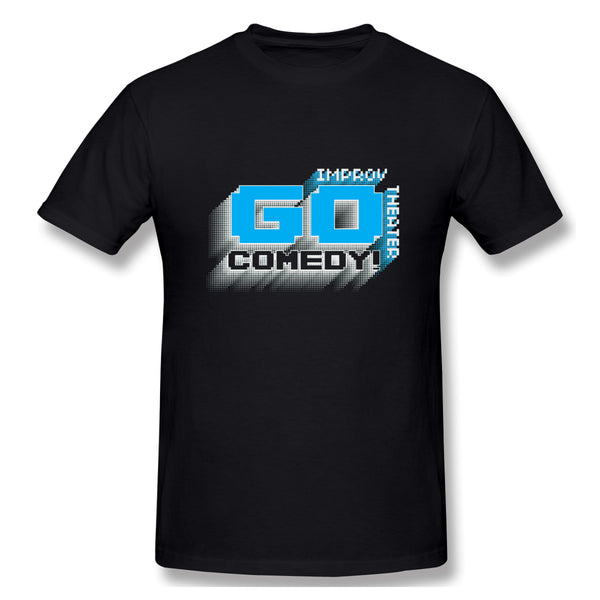 Go Comedys 8 Bit Men's Basic Short Sleeve T-Shirt
