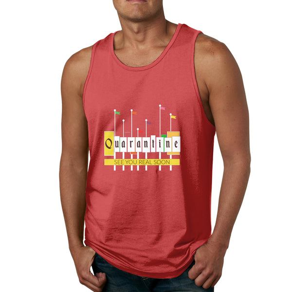 See You Real Soon Quarantine Men's Tank Top Shirt