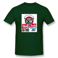 Wolf S Tooth Dogs Food Poster Parody Once Upon A Time In Holly Wall Men's Basic Short Sleeve T-Shirt