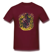Huffle In Puff And Splatter Crests Hufflepuffs Men's Basic Short Sleeve T-Shirt