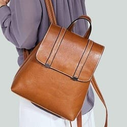 Steer Hide Leather Oil Waxed Crossbody Backpack & Shoulder Bag