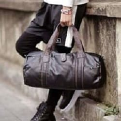 Top Grain Leather Round Bucket Travel/Duffle Bag