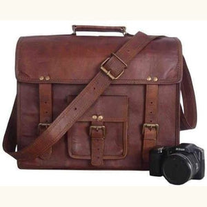 14 Inch Leather Laptop/satchel/briefcase Premium Leather