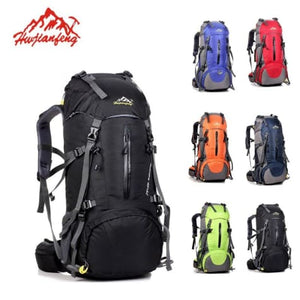 50l Sports Bag Outdoor Travel/climbing/trekking Backpack Black Premium Leather