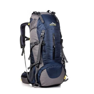 50l Sports Bag Outdoor Travel/climbing/trekking Backpack Dark Blue Premium Leather