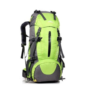 50l Sports Bag Outdoor Travel/climbing/trekking Backpack Green Premium Leather