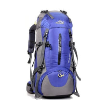 Load image into Gallery viewer, 50l Sports Bag Outdoor Travel/climbing/trekking Backpack Blue Premium Leather