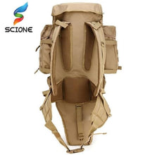 Load image into Gallery viewer, 60l Outdoor Waterproof Tactical Backpack Premium Leather