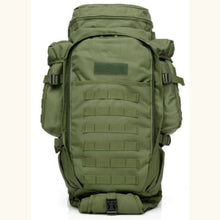Load image into Gallery viewer, 60l Outdoor Waterproof Tactical Backpack Green Premium Leather