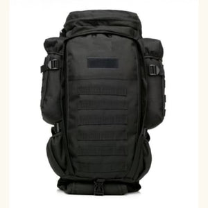 60l Outdoor Waterproof Tactical Backpack Black Premium Leather