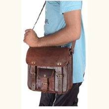 Load image into Gallery viewer, Actual Goat Leather Classic Brown Backpack Premium Leather