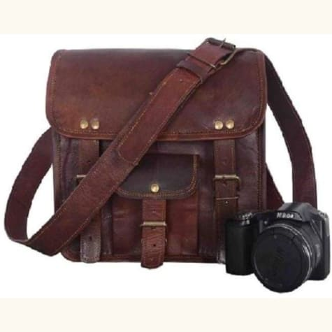 Actual Goat Leather Classic Brown Backpack Premium Leather