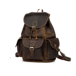 Adventurous Leather Dark Coffee Backpack Premium Leather