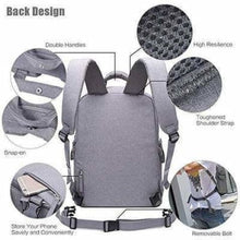 Load image into Gallery viewer, Aesthetic Canvas Dslr Camera Backpack Premium Leather