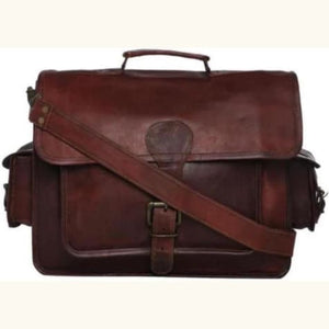 Attorneys Leather Laptop/messenger Bag Premium Leather