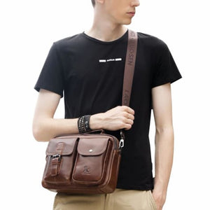 Authentic Cowhide Leather Messenger Briefcase/cross Body Bag Premium Leather