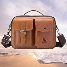 Load image into Gallery viewer, Authentic Cowhide Leather Messenger Briefcase/cross Body Bag Premium Leather