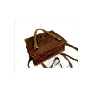 Authentic Goat Leather Brown Messenger Bag/satchel Premium Leather