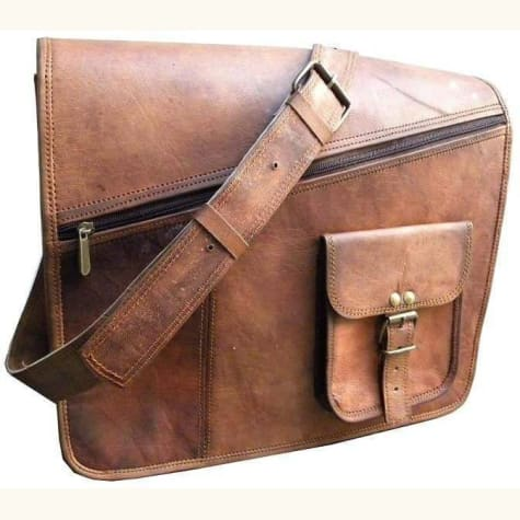 Authentic Goat Leather Laptop/messenger Bag Premium Leather