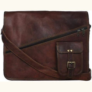 Authentic Goat Leather Messenger Bag Premium Leather