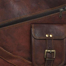 Load image into Gallery viewer, Authentic Goat Leather Messenger Bag Premium Leather