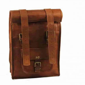 Authentic Handcrafted Leather Roll top Backpack Premium Leather