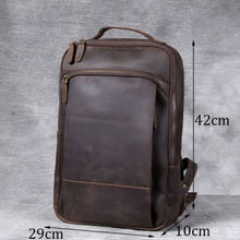 Load image into Gallery viewer, Authentic Leather Computer Laptop Bag/anti Theft back Pack Premium Leather