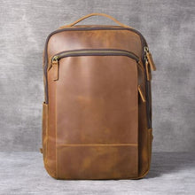 Load image into Gallery viewer, Authentic Leather Computer Laptop Bag/anti Theft back Pack Brown Premium Leather