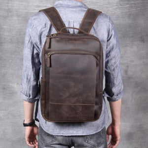 Authentic Leather Computer Laptop Bag/anti Theft back Pack Premium Leather