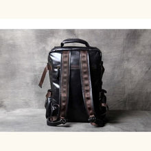 Load image into Gallery viewer, Authentic Leather Mountaineering Backpack and Shoulder Travel Bag Premium Leather