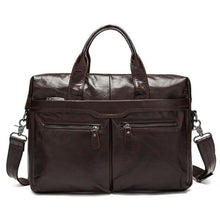 Load image into Gallery viewer, Authentic Leather Shoulder/laptop Briefcase Messenger/crossbody Bag Premium Leather