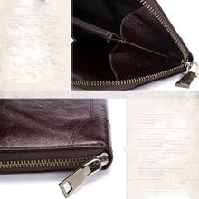 Load image into Gallery viewer, Authentic Leather Wallet Vintage Long Purse Bifold Zipper Premium Leather