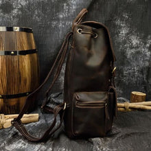 Load image into Gallery viewer, Authentique Crazy Horse Leather Backpack/travel Bag Premium Leather