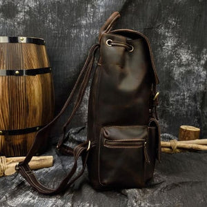 Authentique Crazy Horse Leather Backpack/travel Bag Premium Leather