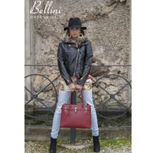 Load image into Gallery viewer, Bellini Ansano Authentic Leather Handbag Tote Sand Premium Leather