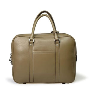 Bellini Arbia Men's Laptop Briefcase Messenger Bag Taupe Premium Leather
