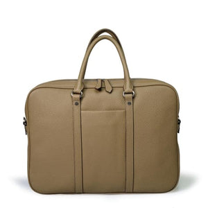 Bellini Arbia Men's Laptop Briefcase Messenger Bag Beige Premium Leather