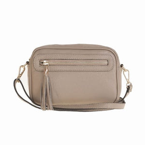 Bellini Bivigliano Crossbody Bag Beige Premium Leather