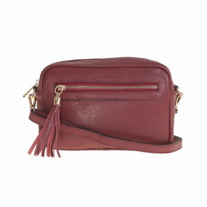 Bellini Bivigliano Crossbody Bag Red Premium Leather