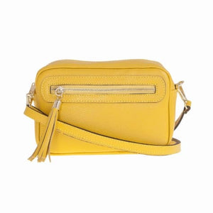 Bellini Bivigliano Crossbody Bag Yellow Premium Leather