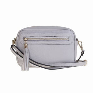 Bellini Bivigliano Crossbody Bag Light Grey Premium Leather