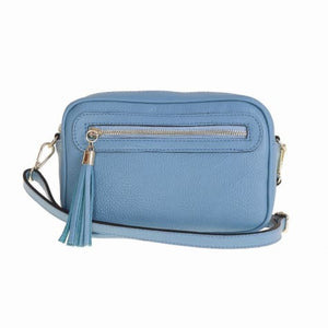 Bellini Bivigliano Crossbody Bag Light Blue Premium Leather