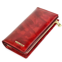 Load image into Gallery viewer, Beth Cat Authentic top Grain Leather Women's Wallet Red Premium Leather