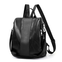 Load image into Gallery viewer, Black Vintage Leather Backpack/daypack Premium Leather