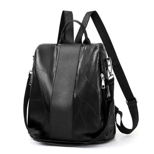 Black Vintage Leather Backpack/daypack Premium Leather