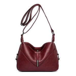 Bolsa Leather Fashion Soft Shoulder Bag Red / (20cm<max Length<30cm) Premium Leather