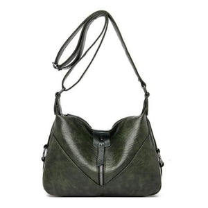 Bolsa Leather Fashion Soft Shoulder Bag Green / (20cm<max Length<30cm) Premium Leather