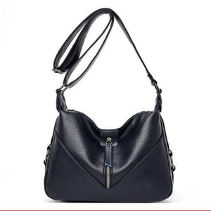 Bolsa Leather Fashion Soft Shoulder Bag Blue / (20cm<max Length<30cm) Premium Leather