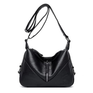 Bolsa Leather Fashion Soft Shoulder Bag Black / (20cm<max Length<30cm) Premium Leather
