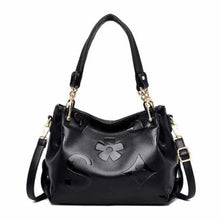 Load image into Gallery viewer, Bolsa Luxury Soft Leather Women's Designer Handbag Black Premium Leather